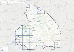 Verspreidingsgebied wilde narcis in Drenthe